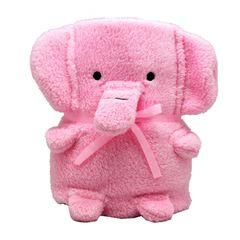 """Мягкая игрушка-плед """"Розовый Слоник"""", 60 x 90 см"""