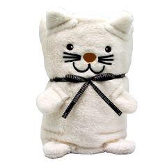 """Мягкая игрушка-плед """"Белый Котик"""", 60 x 90 см"""
