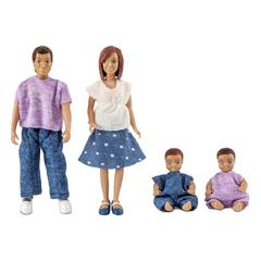 Куклы для домика семья с двумя малышами