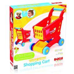 Тележка для супермаркета, цв.красно-желтый (в коробке)
