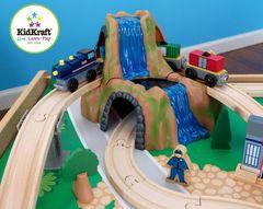 """Деревянная железная дорога """"Горный водопад"""" со столом"""