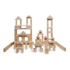 Деревянный конструктор, 85 деталей, неокрашенный, в пакете