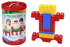 Конструктор Jumbo Magic Blocks 40 деталей в ведре