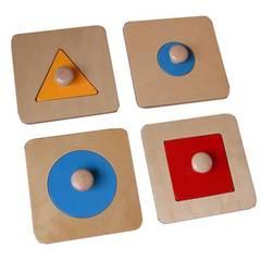 Геометрические пазлы деревянные