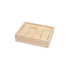 Кубики деревянные, 12 деталей