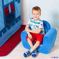 """Игровое кресло """"Рыцарь"""", цв. Голубой"""