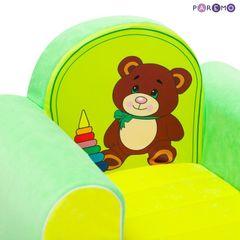 Игровое кресло «Медвежонок», цв. Желтый+Салатовый