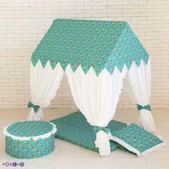 """Текстильный домик-палатка с пуфиком """"Дворец Жасмин"""""""
