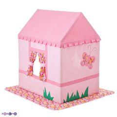 """Текстильный домик-палатка с пуфиком для девочек """"Дворец Мирабель"""""""