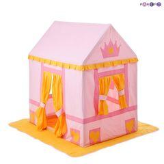 """Текстильный домик-палатка с пуфиком для девочек """"Дворец Три Короны"""""""
