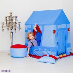 """Текстильный домик-палатка с пуфиком для мальчика """"Замок Бристоль"""""""