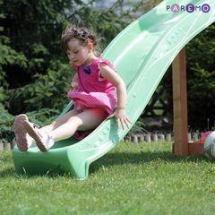 Набор для игровой площадки: детский домик с песочницей и 2скатной крышей и горкой