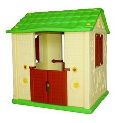 """Игровой домик для детей """"Королевский"""" (2 окна, 2 двери), желтый"""