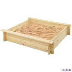 """Деревянная песочница """"Алладин"""" (2 лавки, пропитка, подложка)"""
