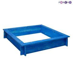 """Деревянная песочница """"Одиссей"""" (4 лавки, пропитка, подложка), цв. Синий"""
