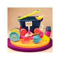 Тележка с игровым набором для песка  (синий)