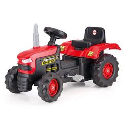Педальный трактор красно-черный