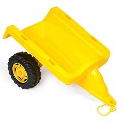 Пластиковый прицеп желтый
