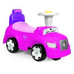 Каталка 2в1 Степ, без ручки управления, с рулем, цв. розовый (в коробке)