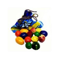 Развивающая игрушка «Волшебный мешочек «Фрукты-ягоды», 14 деталей, разноцветные
