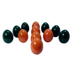 """Развивающая игрушка """"Счетный материал. Яйца"""", цвет оранжевый/зеленый"""