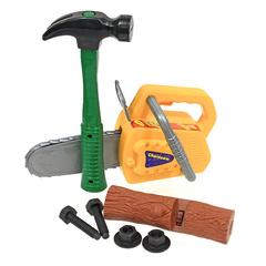"""Набор инструментов в чемодане """"Помогаю папе"""" с аккумулятором, 8 предметов"""