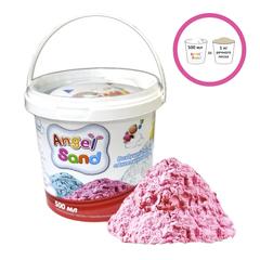 """Песок для творчества """"Angel Sand"""", 500 мл, цвет розовый"""