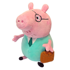 """Мягкая игрушка Peppa Pig """"Папа Свин с кейсом"""", 30 см"""