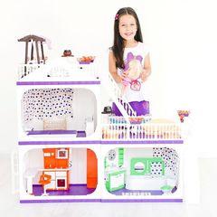 """Коттедж для кукол Barbie (Барби) """"Конфетти"""", С- 1330 с мебелью"""