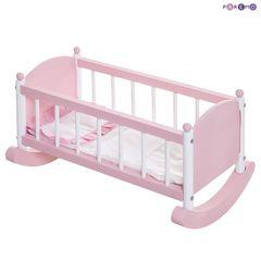Набор кукольной мебели (стул+люлька), цвет Розовый