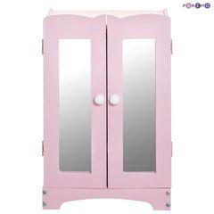 Набор кукольной мебели (стул+люлька+шкаф), цвет Розовый