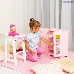 Набор кукольной мебели (шкаф+стул), цвет Розовый