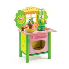 """Игрушечная кухня из дерева """"Дези"""", цв. Зелено-розовый"""