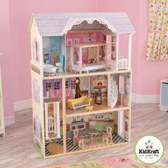 Трехэтажный дом из дерева для Барби
