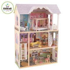 """Трехэтажный дом из дерева для Барби """"Кайли"""" (Kaylee, 65251) с мебелью 10 предметов"""
