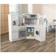 """Кухня """"Белый-Интерактив"""", угловая"""