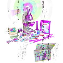 """Набор для исследований """"Большой микроскоп для девочек"""""""