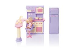 Кухня Маленькая принцесса Сереневая  (в коробке)