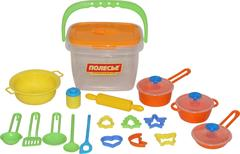 Набор детской посуды (20 элементов) (в ведёрке)