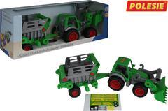 """""""Фермер-техник"""", трактор-погрузчик с полуприцепом №2 (в коробке)"""