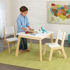 """Детский игровой набор стол и 2 стула """"Модерн"""", цв. Белый"""