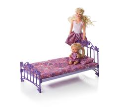 Кроватка  фиолетовая с постельным бельем