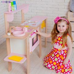 Деревянная кухня-трансформер для девочек