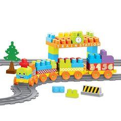Моя первая железная дорога с конструктором, 89 эл., 335 см