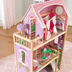 Кукольный домик Ава, с мебелью 10 элементов