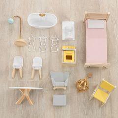 Кукольный домик Джульетта, с мебелью 12 элементов