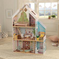 Кукольный домик Зоя, с мебелью 13 элементов, интерактивный