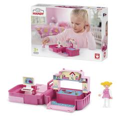 Игровой набор детская комната с фигуркой девочкой в чемоданчике