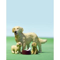 Набор животных Пес семьи со щенками