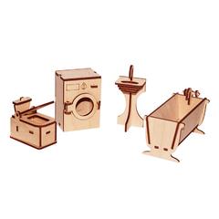 Мебель для кукол серия Я дизайнер Ванная, конструктор